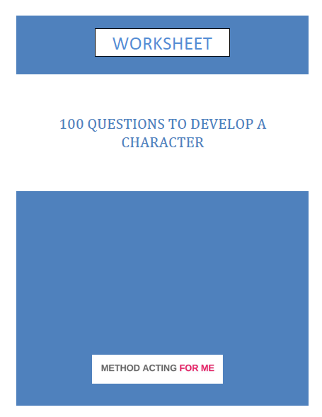 Worksheet template to build characters